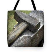 Forging Hammer On The Anvil Tote Bag