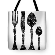 Fork Knife And Spoon Tote Bag