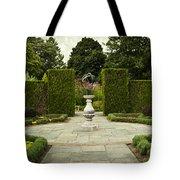 Quiet Garden Space At Niagara Falls Botanical Gardens Tote Bag