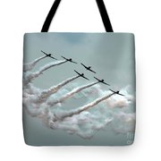Formation Fly By Tote Bag