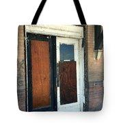 Former Waiting Room Doors Tote Bag