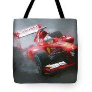 Formula One Burning The Track Tote Bag