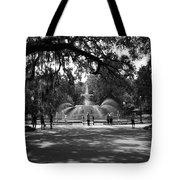 Forsyth Park Black And White Tote Bag