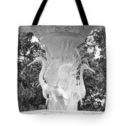 Forsyth Park Fountain - Black And White 4 2x3 Tote Bag