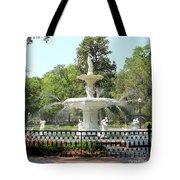 Forsyth Park Fountain Square Tote Bag