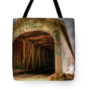 Forsythe Mill Bridge Tote Bag