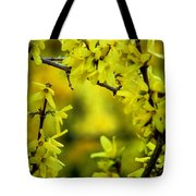 Forsythia At The Hacienda Tote Bag
