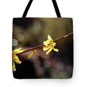 Forsythia Flowers Tote Bag by Helga Novelli
