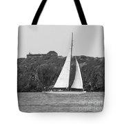 Fort Amsterdam Sailboat Tote Bag