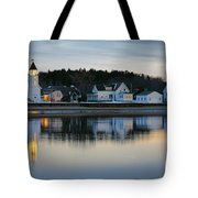Fort Baldwin Winter Evening Tote Bag