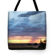 Fort Collins Colorado Sunset Lightning Storm Tote Bag