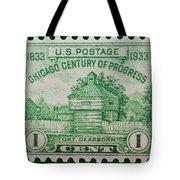 Fort Dearborn Postage Stamp Tote Bag