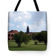 Fort Jefferson Parade Grounds And Harbor Light Tote Bag