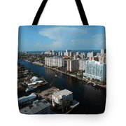 Fort Lauderdale Aerial Photography Tote Bag