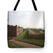 Fort Mchenry Earthworks And Barracks In Baltimore Maryland Tote Bag