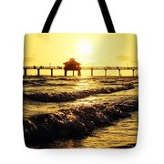 Fort Myers Pier Tote Bag