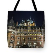 Fort  Of Quebec City At Night Tote Bag