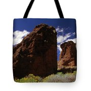 Fort Rock Twin Towers- H Tote Bag