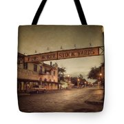 Fort Worth Impressions Stockyards Tote Bag