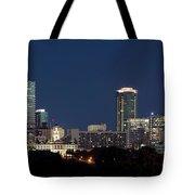 Fort Worth Skyline 051918 Tote Bag