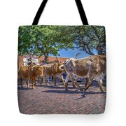 Fort Worth Stockyards Longhorn Drive Tote Bag