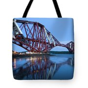 Forth Railway Bridge In Edinburg Scotland  Tote Bag