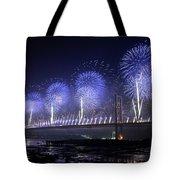 Forth Road Bridge Fireworks Tote Bag