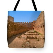 Fortress In Frangokastello Tote Bag