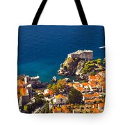 Fortress Of Dubrovnik From Above Tote Bag