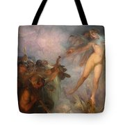 Fortuna Passes Guided By Wisdom And Economy She Spreads Gifts To Workers Tote Bag