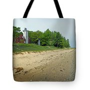 Forty Mile Point Lighthouse Springtime Tote Bag