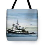Foss Tugboat Martha Foss Tote Bag by James Williamson