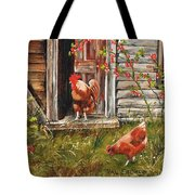Fossicking Fowls Tote Bag