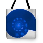 Fossil Ammonite, X-ray Tote Bag