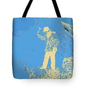 Fossil Hunter Blue Yellow Tote Bag
