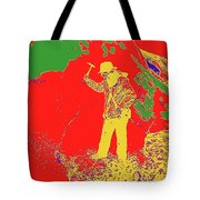 Fossil Hunter Red Yellow Green Tote Bag