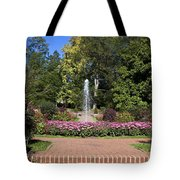 Fountain Among Flowers Tote Bag