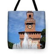 Fountain And Castle Tote Bag