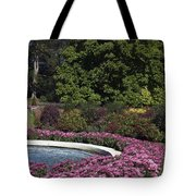Fountain And Mums Tote Bag