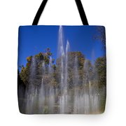 Fountain And Rainbow Tote Bag