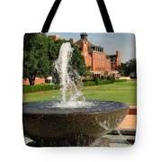 Fountain And Union Tote Bag by Meandering Photography