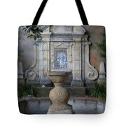 Fountain At Mission Carmel Tote Bag