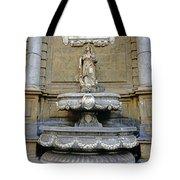 Fountain At Quattro Canti In Palermo Sicily Tote Bag