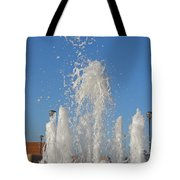 Fountain At Rhyl Tote Bag
