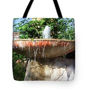 Fountain At Taliesen Tote Bag