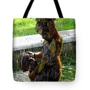 Fountain Cherubs Tote Bag