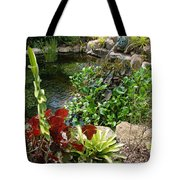 Fountain Flowers Tote Bag