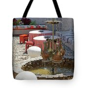 Fountain In Courtyard Tote Bag