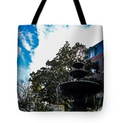 Fountain In Downtown Charleston Tote Bag