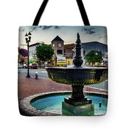 Fountain In Small Town Tote Bag